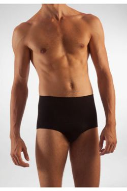 Briefs for man in elasticized cotton with girdle to reduce and shape the waistline