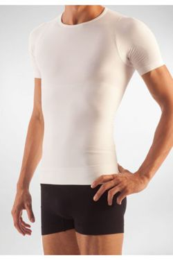 FarmaCell compression t-shirt for men in elasticized cotton with total body pressure effect