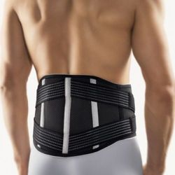 Non-elastic back support with pad Vario Bort