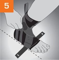 Neurodyn-Spastic Sporlastic fabric foot lift orthosis for compensation of flaccid paralysis