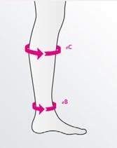 pomiar podkolanówki przeciwżylakowe, measurement od compression stockings