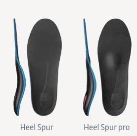 różnica w budowie wkładki heel spur a hell spur pro