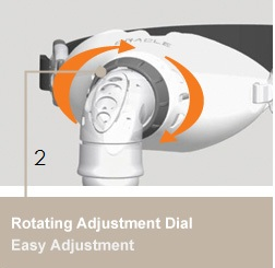 Rotating Adjustment Dial: Easy Adjustment: Offers continuous adjustment of the distande between the SnapFlap Cover and Silicone Seal Mouthpiece for a personalized fit. Easy to use- just rotate the adjustment dial. This can even be adjusted while mask is fitted.