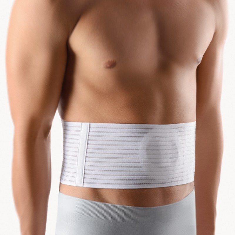 Umbilical hernia support belt .