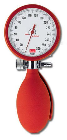 Aneroid Sphygmomanometer Boso Clinicus II 60 Twin tube system red