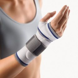 BORT ManuBasic® elastic wrist support with strap and silicone pad