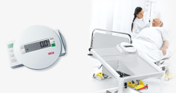 Electronic bed and dialysis scale with equipment trolley seca 985