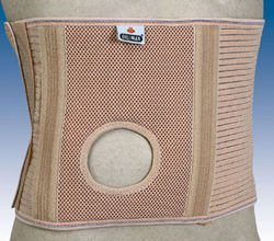 Orliman Stomamed 24 cm, abdominal back support for stomies with orifice for stoma