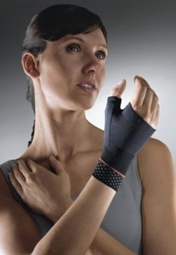 Sporlastic elastic wrist support orthosis with thumb spica